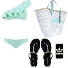 un dia de playa by miniafrica on Polyvore featuring polyvore fashion style Lisa Marie Fernandez Miss KG adidas
