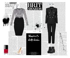 """""""BRIT Awards #2"""" by holyanna ❤ liked on Polyvore featuring ASOS, Emilio Pucci, Calvin Klein Collection, Hervé Léger, Balmain, Kenneth Jay Lane, BRIT*, Christian Louboutin and Chanel"""
