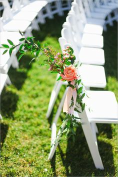 cascading floral aisle decor #weddingceremony #weddingflorals #weddingchicks http://www.weddingchicks.com/2014/03/25/hot-pink-and-purple-two-day-wedding/