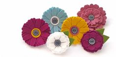 A selection of handmade Felt Flower Brooches available from .. 2015 - 2016 http://profotolib.com/picture.php?/41174/category/1702