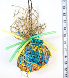 Party Ball - Foraging Ball - Parrot Toys & Bird Toy Parts by A Bird Toy Source by gracesezemsky Parrot Pet, Parrot Toys, Cockatiel, Budgies, Diy Bird Toys, Funny Birds, Funny Animals, Conure, Pet Tags