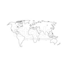 Editable vector rough outline sketch of a world map royalty free contour map of the world vector illustration gumiabroncs Gallery