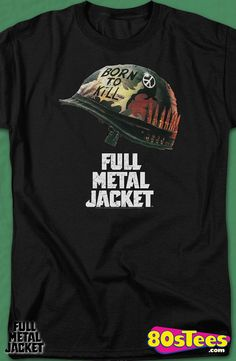 Poster Full Metal Jacket T-Shirt: Full Metal Jacket Mens T-Shirt Full Metal Jacket Geeks:   Travel everywhere  in this men's style shirt that has been designed with great art and illustration.