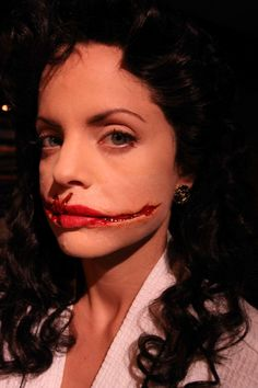 Mena Suvari as The Black Dahlia from the film American Horror Story, make up by Christien Tinsley.