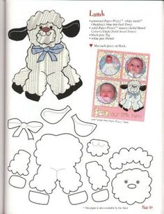 lamb great for baby's scrapbook pages Paper Piecing Patterns, Felt Patterns, Applique Patterns, Applique Quilts, Pattern Paper, Sheep Crafts, Felt Crafts, Sewing Appliques, Digi Stamps