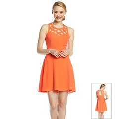 Product: Guess Cross Hatch Fit And Flare Dress