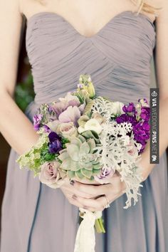Neato! - purple wintry flower arrangement // photo by | CHECK OUT MORE GREAT PURPLE WEDDING IDEAS AT WEDDINGPINS.NET | #weddings #wedding #purplewedding #purpleweddingphotos #events #forweddings #iloveweddings #purple #romance #vintage #planners #ilovepurple #ceremonyphotos #weddingphotos #weddingpictures