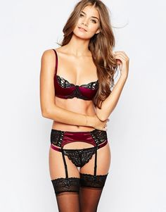 Image 4 ofASOS Leanna Lace Up Satin Suspender