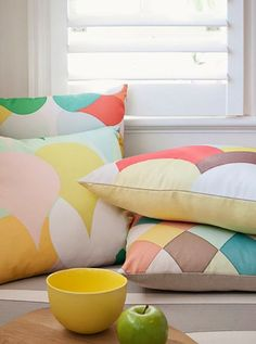 Geometric patterns, pastel shades - if you like any of those, then you will love Dan 300 Group fabulous collection! Which one is your favourite? Contemporary Cushions, Diy Home Decor For Apartments, Diy Home Decor Rustic, Kitchens And Bedrooms, Décor Boho, Barbie Dream House, Mason Jar Crafts, Signs, Cottage Chic