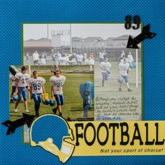 Kim Gowdy created this fun football page using Core'dinations ColorCore cardstock.