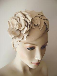 suzie o'rourke - Leather Rose Beret