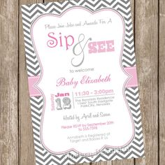 Sip n see by Denise on Etsy
