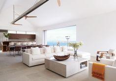 Modern Living Room and Gwathmey Siegel & Associates Architects in St. Barts