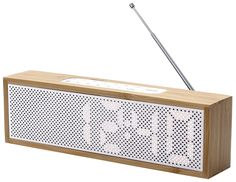 LEXON LA83HW Radio-réveil Blanc/Bois