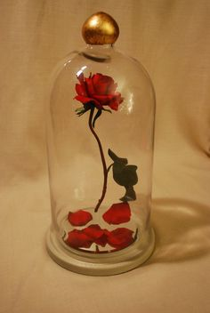Enchanted Floating Rose Red Fairy Tale Prop Replica Beauty