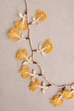 (no tutorial), mina perhonen Textile Jewelry, Fabric Jewelry, Beaded Jewelry, Handmade Jewelry, Crochet Jewellery, Nifty Crafts, Contemporary Embroidery, Summer Knitting, Crochet Instructions