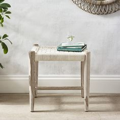 This wonderful Woven Stool is crafted from Indian Sheesham wood, known for its superior strength and rustic appearance. Its natural markings and hand-woven technique mean each piece has a unique charm and artisanal feel. With a woven, plaited texture, Dressing Table Seat, Bedroom Stools, Bench Stool, The White Company, Vanity Bench, Benches, Entryway Tables, Hand Weaving, Chairs