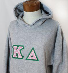 Greek Sorority Hooded Sweatshirt Greek Letter - Monogram Personalized, $51.00.
