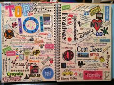 "Smash book  My ""Top 101 Things I Love"" Page. This is the very first pages I've ever done in a Smash*book and I am ADDICTED!"