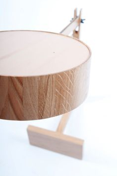 A Simple Wooden Lamp Named Bob Photo