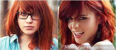 красные волосы, голубые глаза