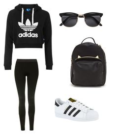 """""""School"""" by giaai on Polyvore featuring Topshop and adidas"""