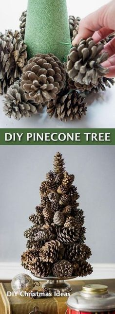 Viel H… Simple DIY Cheap Christmas Decoration – Super Easy Pine Cone Tree Crafts! A lot of craft …, # cheap … Pine Cone Tree, Cone Trees, Pine Cones, Pine Cone Christmas Tree, Diy Décoration, Easy Diy Crafts, Diy Crafts To Sell, Crafts Cheap, Sell Diy