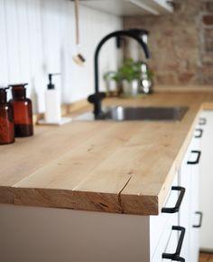 DIY kitchen counters   #rustic #kitchen #home #decor #diy #wooden #counters #scandinavian #interior