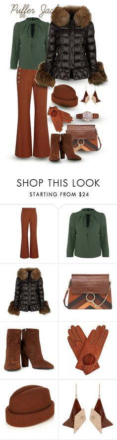 """Puffer Jacket - Ladylike"" by giovanina-001 ❤ liked on Polyvore featuring Chloé, Holland Cooper, Giuseppe Zanotti, Gizelle Renee, Gigi Burris Millinery and STELLA McCARTNEY"