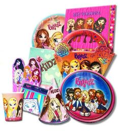We sell Bratz kid's birthday party supplies including Hard To Find and vintage decorations, tableware, party favors and so much more! You will be amazed at our dynamic selection of Rare and Discontinued Party Supplies for children and adults! Birthday Plate, Birthday Bash, Birthday Parties, Birthday Party Decorations, Party Favors, Bratz Doll, Dolls, Kids Party Tables, Plastic Forks