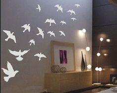 Beautiful 18PCS Fly Birds    Nature Vinyl Wall Paper Decal Art Sticker Q167