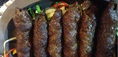 kofta top Gf Recipes, Greek Recipes, Cooking Recipes, Bon Appetit, Red Velvet, Lamb, Sausage, Food And Drink, Beef