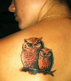 817c1bde7 Mother and baby owl tattoo. To represent all of the wise women in my life