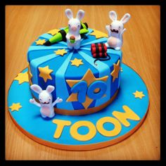 Raving Rabbids cake by Zalig Zoet www.zalig-zoet.be