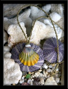 Custom Big Rainbow Hawaiian Sunrise Shell Cord Necklace