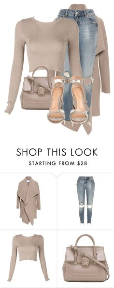 """Untitled #3552"" by xirix ❤ liked on Polyvore featuring Harris Wharf London, River Island, Versace and Gianvito Rossi"