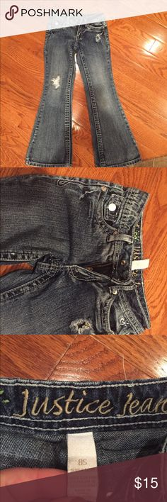 Justice jeans A fab fit just for her. Embroidered justice logo at back waistband. Justice Bottoms Jeans