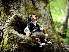 Ooak Troll doll in polymer clay Handmade Troll Statuette OOAK