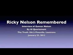 Gunnar Nelson talks Ricky Nelson Remembered - YouTube