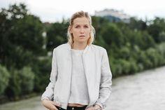 tifmys – Zara silver bomber & H&M shirt.