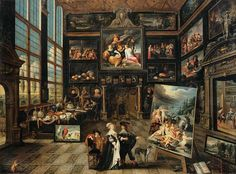 Cornelis de Baellieur Interior of a Collector's Gallery of Paintings and Objets d'Art