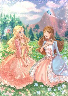 Disney Barbie Dolls, Barbie Movies, Disney Drawings, Cartoon Drawings, Barbie Drawing, Princess And The Pauper, Barbie Images, Princess Drawings, Princess Aesthetic