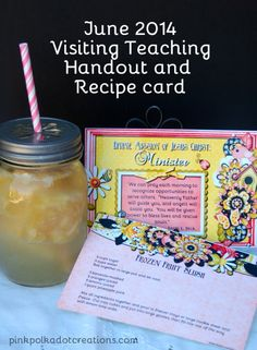 June 2014 Visiting Teaching Handout | Pink Polka Dot Creations