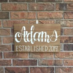 Last Name Decor, Last Name Wood Sign, Name Signs, Wedding Gifts For Guests, Wedding Party Favors, Decor Wedding, Selling Handmade Items, Etsy Shop, Kit