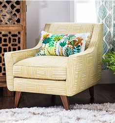Our new JBxJL collection with Justina Blakeney and Jonathan Louis is now available at Living Spaces. This accent chair is just one example of style that will keep you at the edge of your seat. Decor, Furniture, Accent Chairs, Home Goods, Living Spaces, Furniture Collections, Chair, Home Decor, Master Bedroom Chair