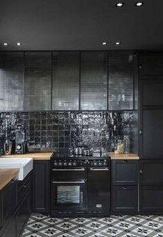 On ose le noir dans la cuisine - Déco Idées