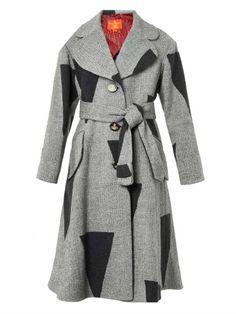 Single-breasted patchwork wool-blend coat | Vivienne Westwood $1,880.00