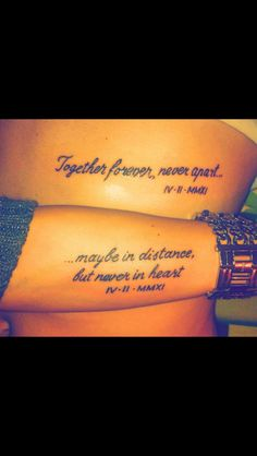 His and hers, tattoo cute!