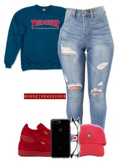 """""""11/17/16"""" by codeineweeknds ❤ liked on Polyvore featuring Puma and Ray-Ban"""