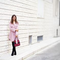 My way to start a week: with a big happy smile. A wish you all a great week! Avon, Great Week, Jumper Dress, Happy Smile, Over The Knee Boots, Jade, Pink, Outfits, Shopping